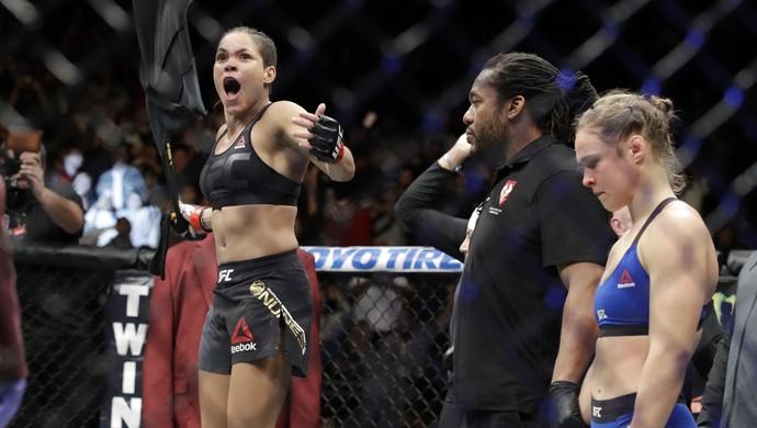 Amanda Nunes Ronda Rousey (Foto: John Locher / AP)