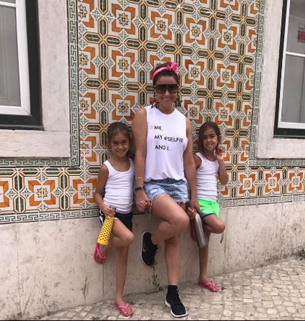 Giovanna Antonelli e as filhas (Foto: Reprodução)