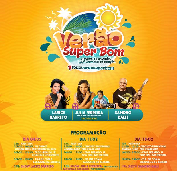 Programação gratuita em Campos, RJ, terá shows e atividades em praia da cidade  (Foto: Arte / Divulgação)