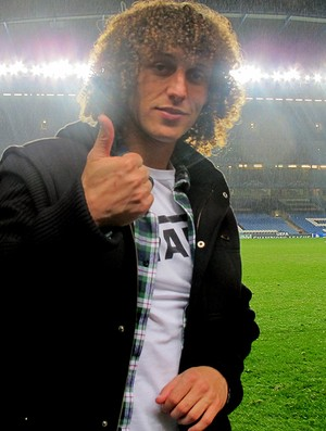 david luiz chelsea stamford bridge (Foto: Cah&#234; Mota / Globoesporte.com)