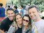 Sandy e Lucas Lima encontram Wanessa e Marcos Buaiz em viagem