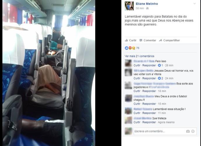 Melinho União Barbarense Leão da Treze Print Ônibus (Foto: Reprodução / Facebook)