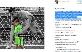 """Armani faz homenagem emocionada a Danilo: """"Campeão para sempre"""""""
