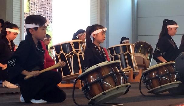 Apresentação de Taiko (tambores japoneses) (Foto: Divulgação/ RPC TV)