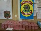 PF intercepta avião usado para tráfico e apreende quase 100 kg de droga