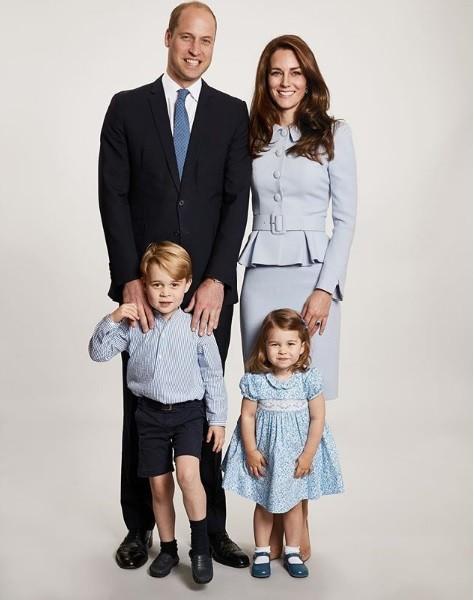 Família real britânica (Foto: Instagram)