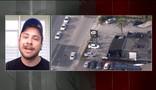 Brasileiro descreve interior da boate (Reprodução GloboNews)