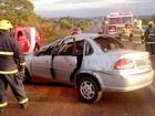 Capotagem deixa três pessoas feridas na Epia, no DF