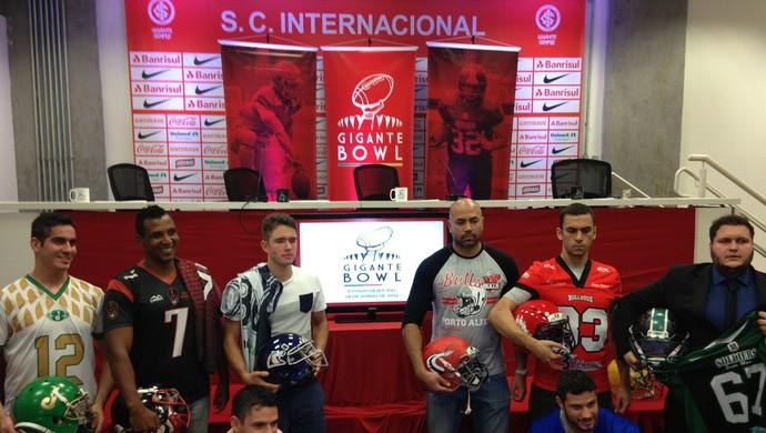 Gigante Bowl futebol americano Inter (Foto: Eduardo Deconto/GloboEsporte.com)