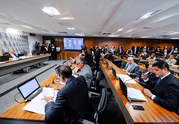 Comissão de Constituição e Justiça (CCJ) do Senado (Foto: Edilson Rodrigues/Agência Senado)
