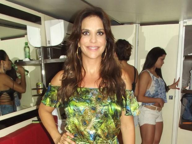 Ivete Sangalo fez participação na apresentação do Asa de Águia no Carnatal 2013 (Foto: Klênyo Galvão/G1)