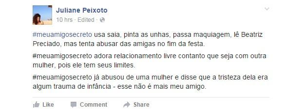 #meuamigosecreto 12 (Foto: Reprodução/Facebook)