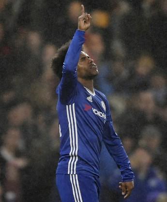 Willian Chelsea x Peterborough (Foto: Reuters)