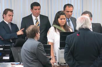 portuguesa  exibição de prova de video julgamento (Foto: Edgard Maciel de Sá)