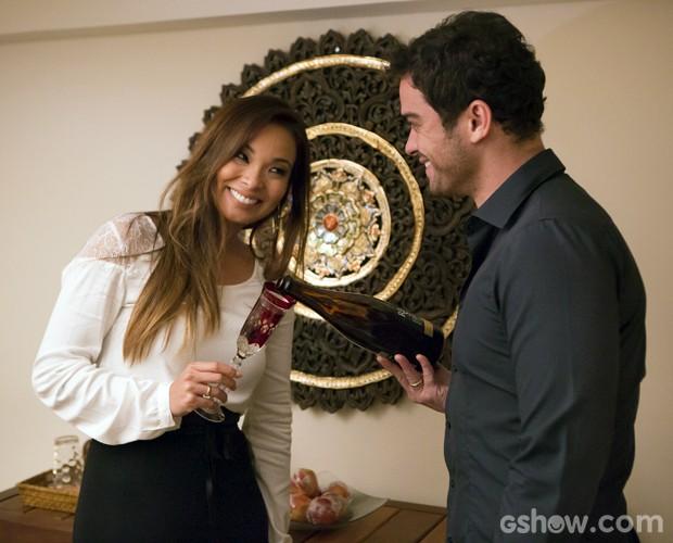 O casal vai se casar no dia 13 de setembro (Foto: Felipe Monteiro / TV Globo)