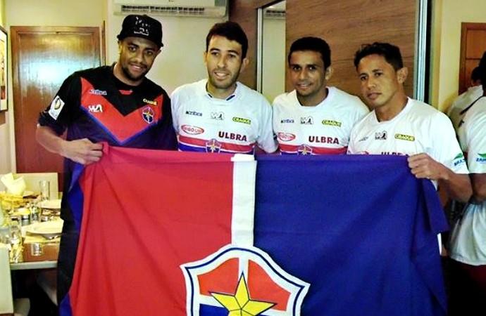 Charles, Rodrigo Ítalo, Dinamite e Michel Parintins no Fast (Foto: Lissandro Windson/Fast)