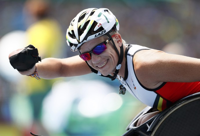 100m - T52 Final - Marieke Vervoort Bélgica paralimpíada rio 2016 (Foto: Reuters)