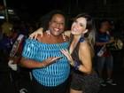 Tânia Oliveira e Cacau Protásio participam de ensaio da União da Ilha
