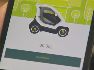Ideia é que o veículo seja compartilhado usando aplicativo  (Foto: Reprodução / TV TEM)