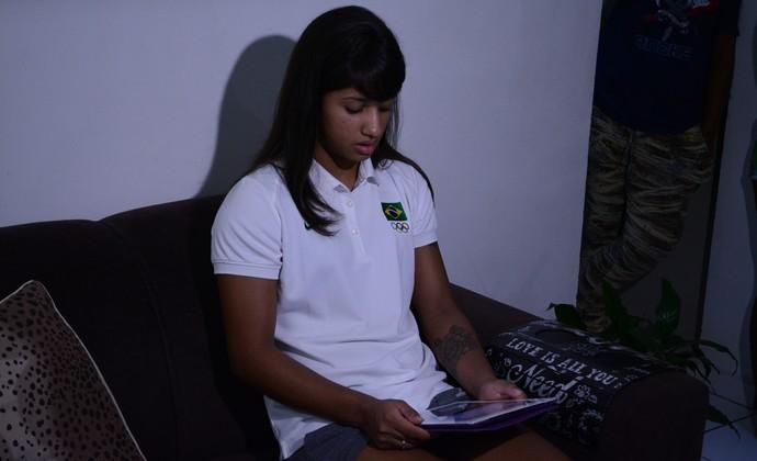 Gabriela Clemente judoca Mogi das Cruzes (Foto: Cairo Oliveira)