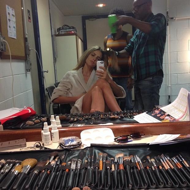 Fernanda Lima nos bastidores do programa 'Superstar' (Foto: Instagram/ Reprodução)