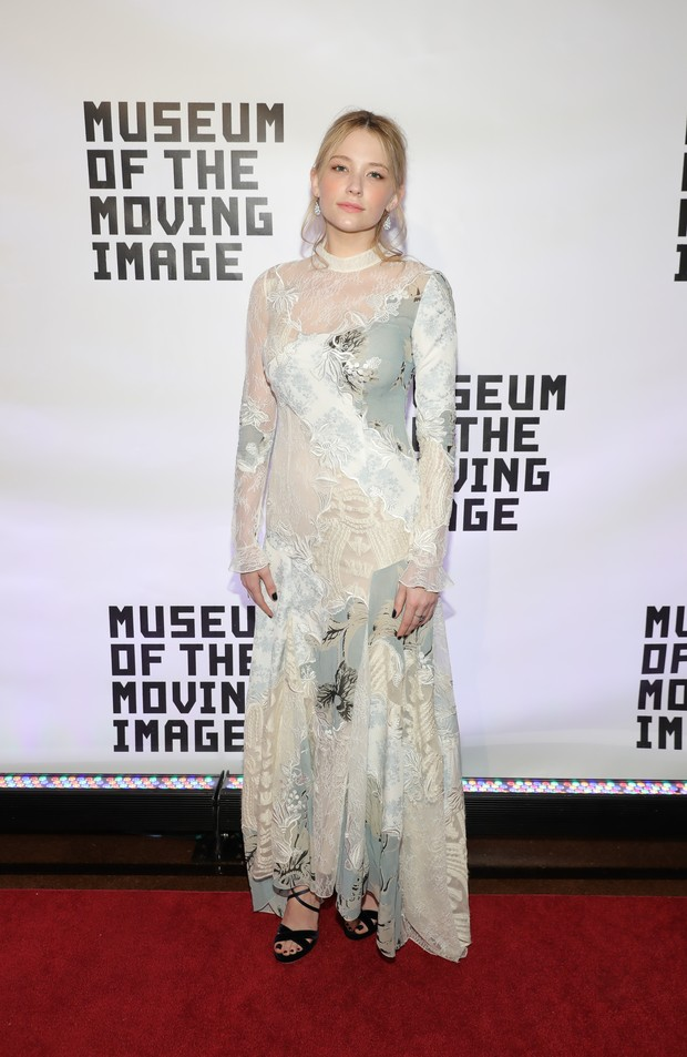 Haley Bennett em evento em Nova York, nos Estados Unidos (Foto: Neilson Barnard/ Getty Images/ AFP)