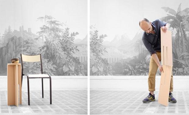 Mesas de madeira (Foto: Mathieu Lefranc / divulgação)