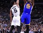Warriors cumprem papel, varrem Spurs e chegam à terceira final com recorde
