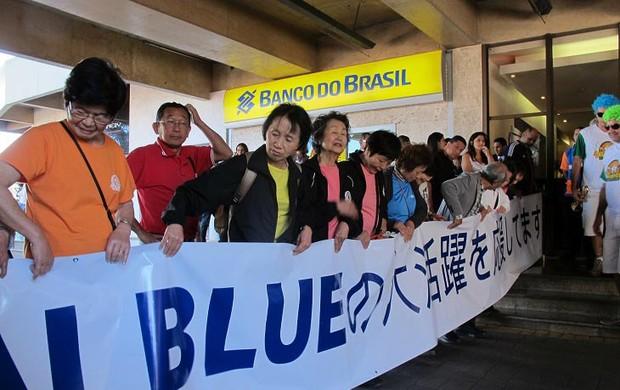 Faixa torcida seleção do japão brasília (Foto: Janir Júnior)