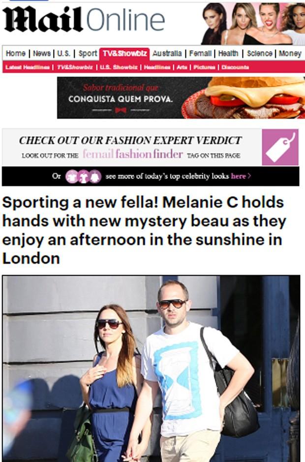 Ex-Spice Mel C e o namorado (Foto: Reprodução/Daily Mail)