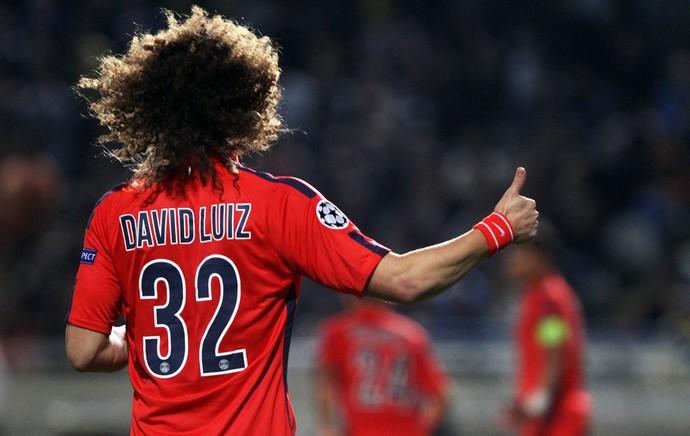 PSG Paris Saint-Germain x Apoel - David Luiz (Foto: AFP)