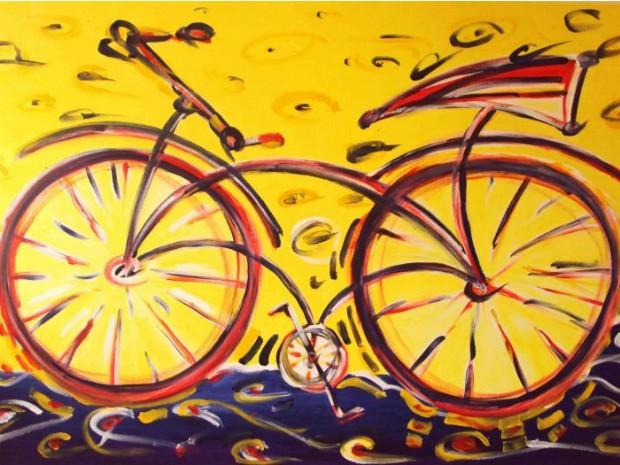 """Obra chamada """"Bike Viva"""", do artista plástico Luiz Cavalli (Foto: Divulgação)"""