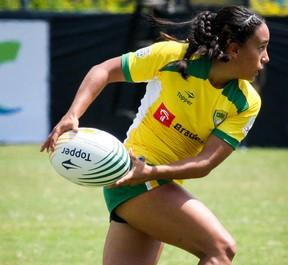 Edna Santini da seleção brasileira de rúgbi feminino