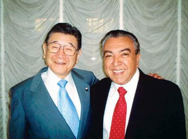 Shintaro Tsuji e Mauricio de Sousa (Foto: divulgação)