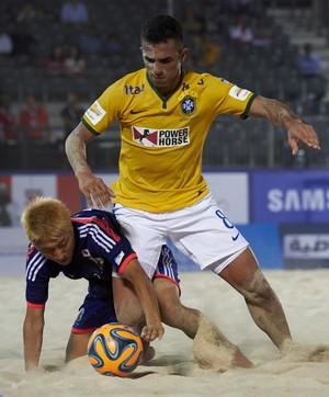 Bruno Xavier Brasil x Japão futebol de areia (Foto: Beachsoccer.com)