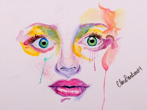 Colorido expressa alegria e o rosto preocupação, diz Clara (Foto: Arquivo Pessoal/ Sandra Bandeira)