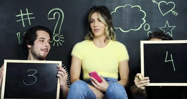 Giovanna Ewbank faz quadro de perguntas e respostas com irmão e marido (Foto: Reprodução/Youtube)