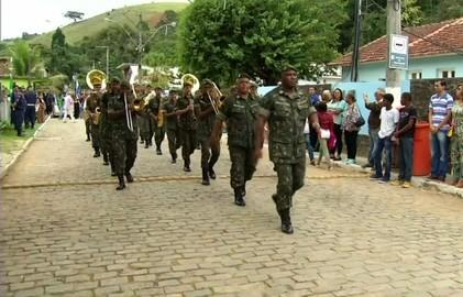 Sebollas, em Paraíba do Sul tem dia de homenagens a Tiradentes (Reprodução/TV Rio Sul)