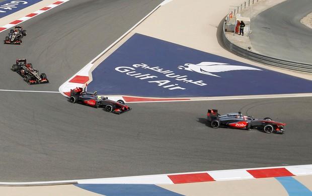 jenson Button e Sergio perez mclaren gp do Bahrein (Foto: Agência Reuters)