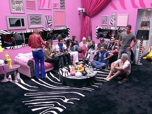 BBB às 22h30m do dia 20/01. (Foto: Big Brother Brasil)