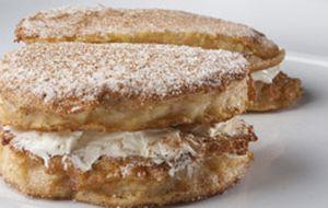 Rabanada com recheio de cream cheese