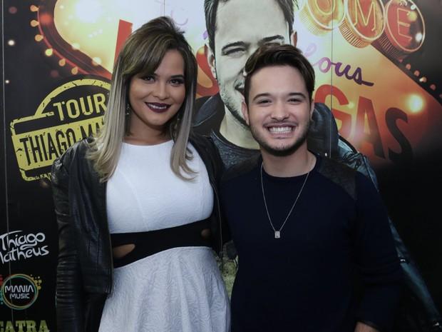 Geisy Arruda e o cantor Thiago Matheus em show em São Paulo (Foto: Thiago Duran/ Ag. News)