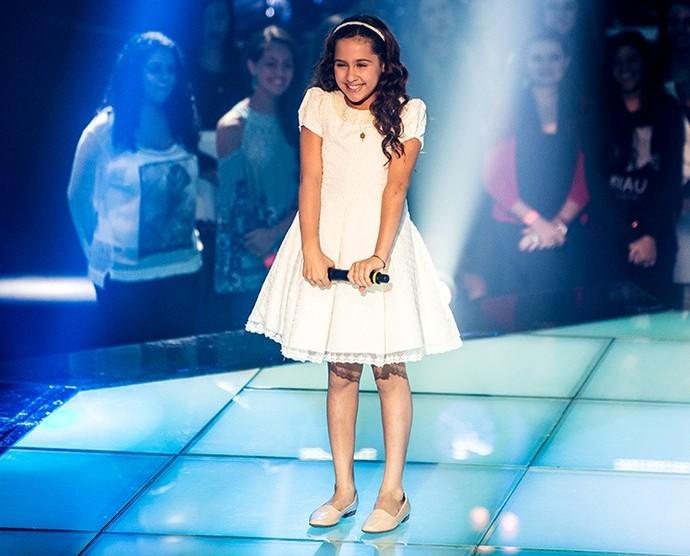 Ana Beatriz Torres na primeira Batalha do The Voice Kids. (Foto: Isabella Pinheiro/Gshow)