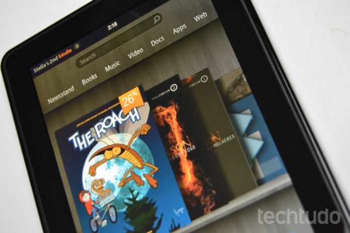 Review Kindle Fire | TechTudo