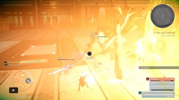Fique atento para contra-atacar em Final Fantasy XV (Foto: Reprodução/Murilo Molina)