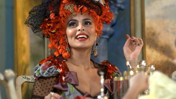 Catarina resolve convidar Lepe (Foto: Meu Pedacinho de Chão/TV Globo)