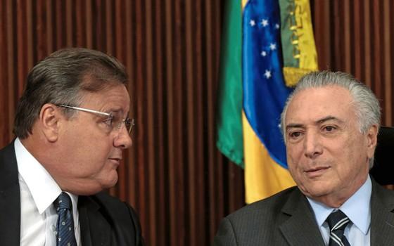 Geddel e Temer ,no Planalto.O ex-ministro era um dos auxiliares de maior confiançã do presidente (Foto: Ueslei Marcelino / Reuters )