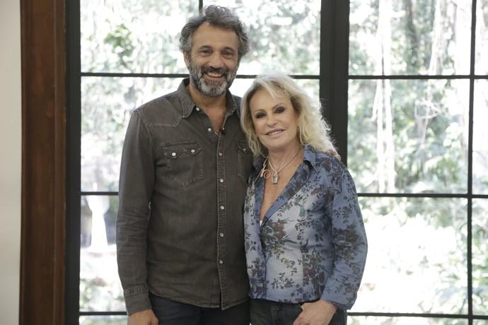 Domingos Montagner tomou café com Ana Maria Braga no Mais Você desta quarta-feira, 7/9 (Foto: Artur Meninea / Gshow)