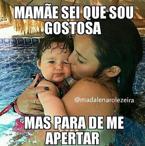 Madalena, filha dee Bruno Gissoni e Yanna Lavigne, ganha perfil de memes na web (Foto: Reprodução/Instagram)