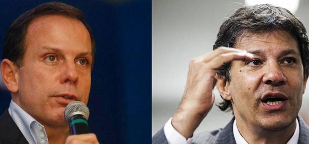 João Doria (PSDB) e Fernando Haddad (PT) (Foto: Reprodução/Facebook/FotosPúblicas)
